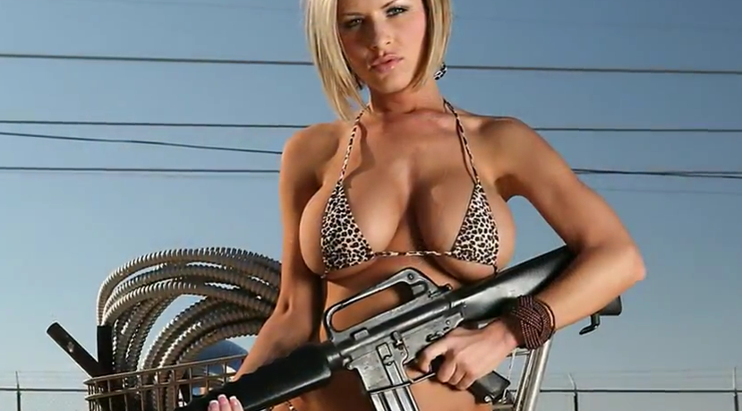 Hot girls big guns