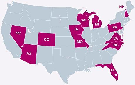 Swing States in Amerika