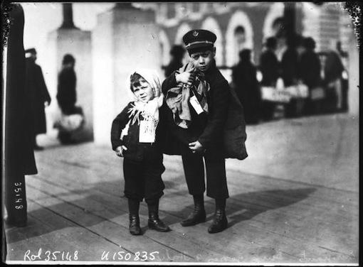 Emigranten op Ellis Island