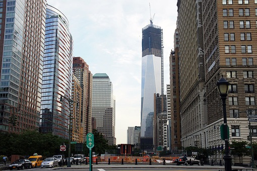 One World Trade Center in aanbouw