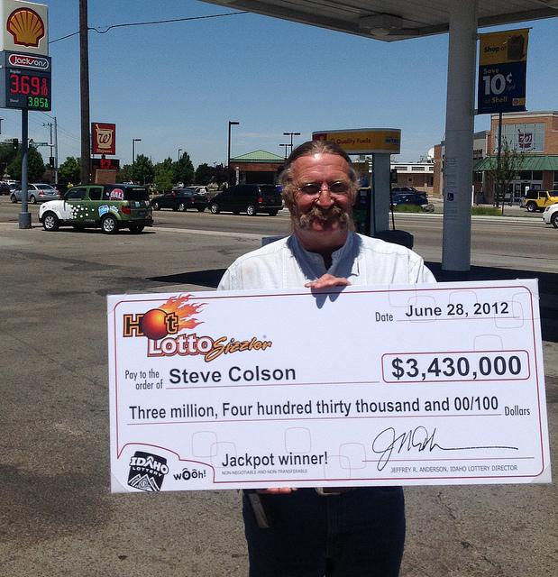Een loterijwinnaar (photo credit)