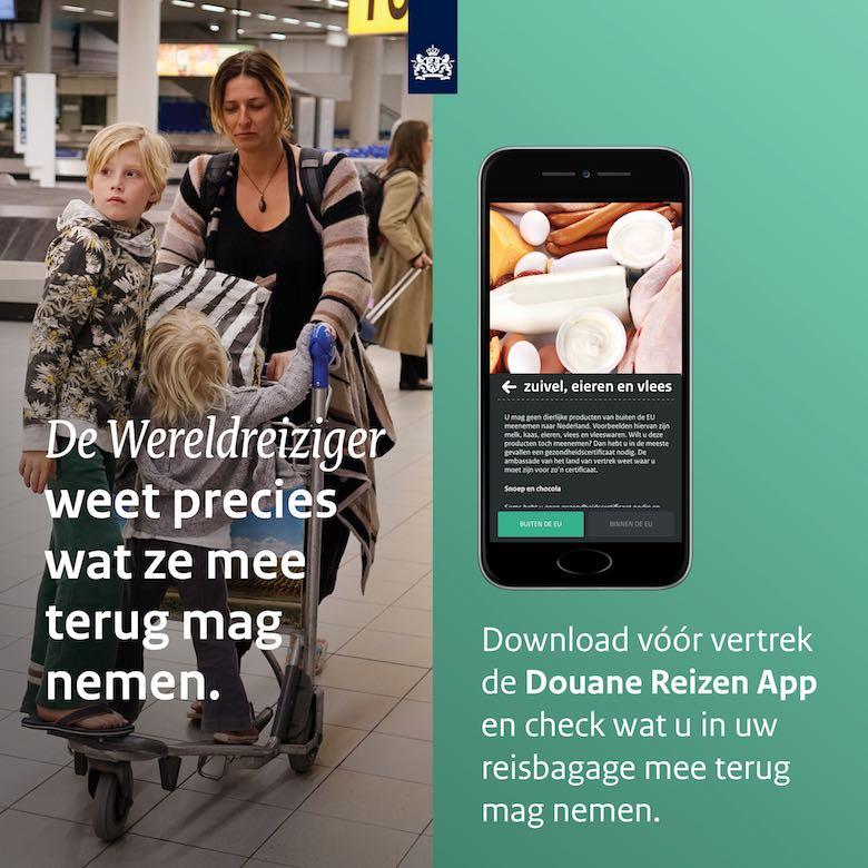 Goederen invoeren vanuit Amerika - Check de Douane Reizen App