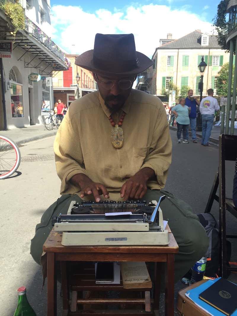 straatdichter in New Orleans