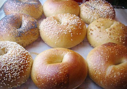 Bagels bij het Amerikaans ontbijt