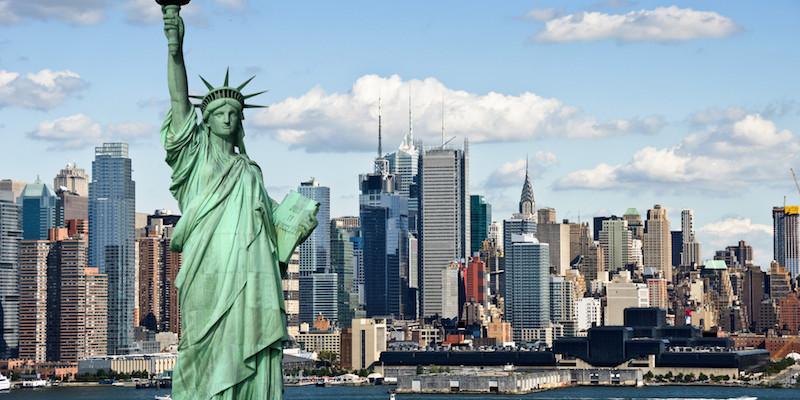 Het Vrijheidsbeeld in NYC