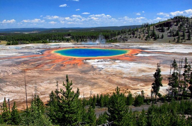 ruige natuur in Yellowstone