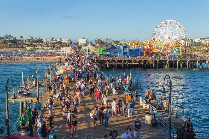 De Santa Monica Pier in Los Angeles