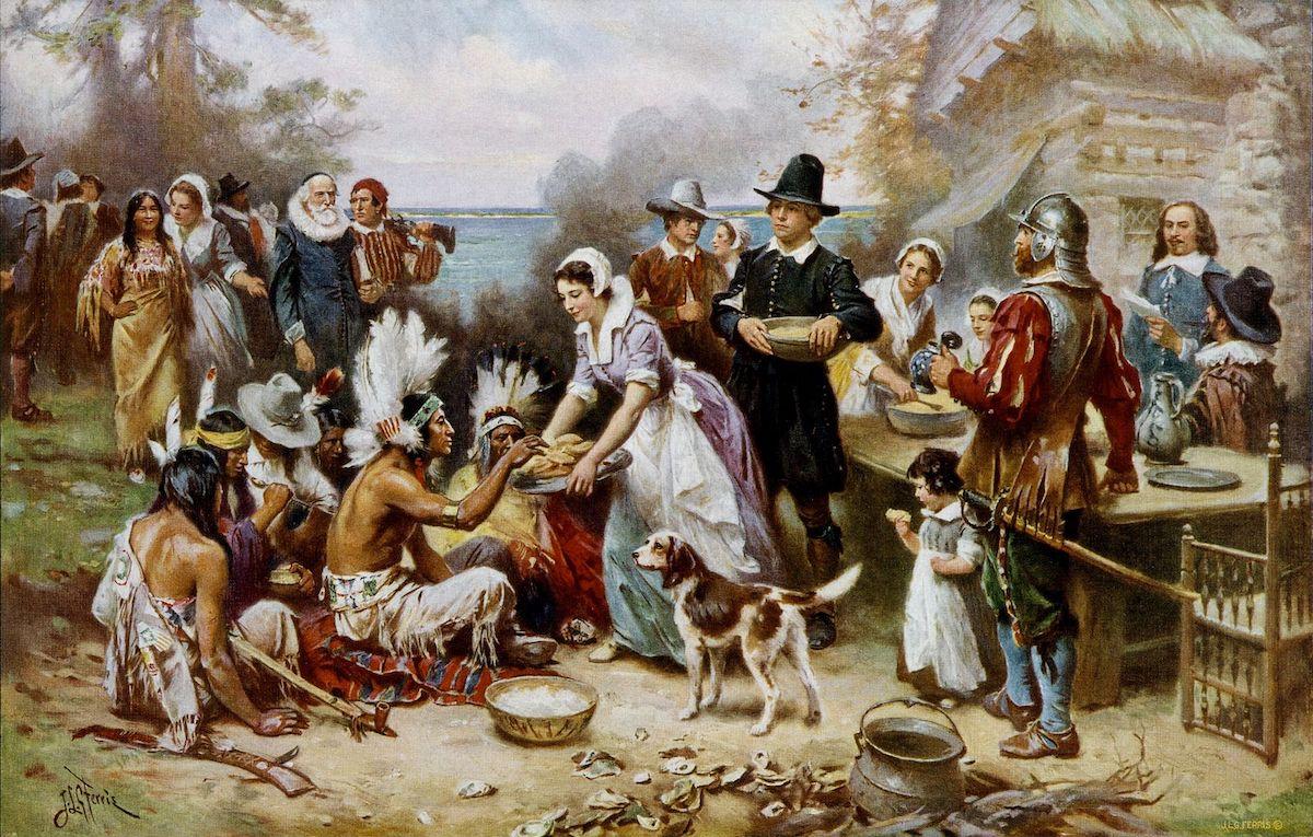 De eerste Thanksgiving Day